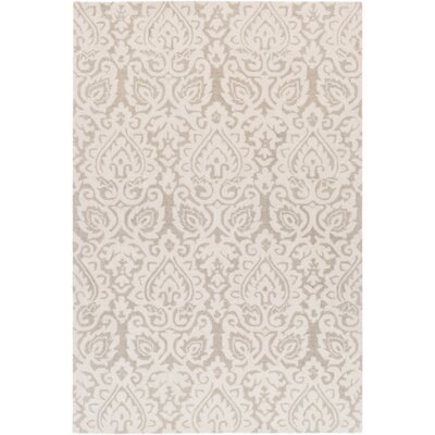 Russellville Hand-Hooked Neutral/Brown Area Rug Rug Size: Rectangle 8 x 10