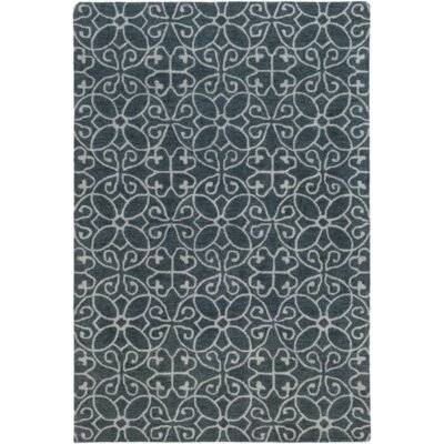 Russellville Hand-Hooked Blue/Gray Area Rug Rug Size: Rectangle 8 x 10