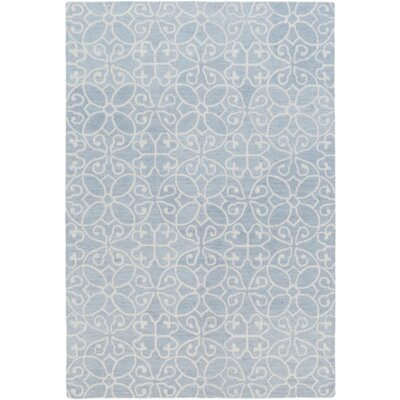 Russellville Hand-Hooked Blue/Neutral Area Rug Rug Size: Rectangle 2 x 3