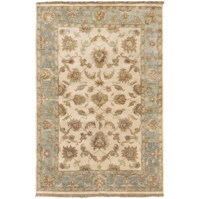 Harrell Hand-Knotted Neutral/Gray Area Rug