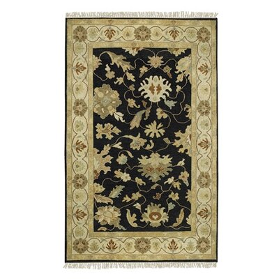 Glenn Black/Gray Area Rug Rug Size: Rectangle 9 x 13