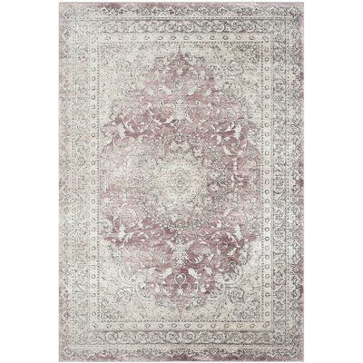 Prager Rose/Beige Area Rug Rug Size: Rectangle 4 x 6