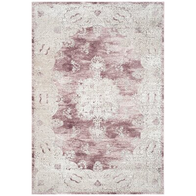 Prager Rose/Beige Area Rug Rug Size: Rectangle 67 x 9