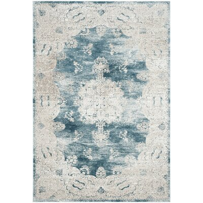 Prager Blue/Beige Area Rug Rug Size: Rectangle 8 x 10