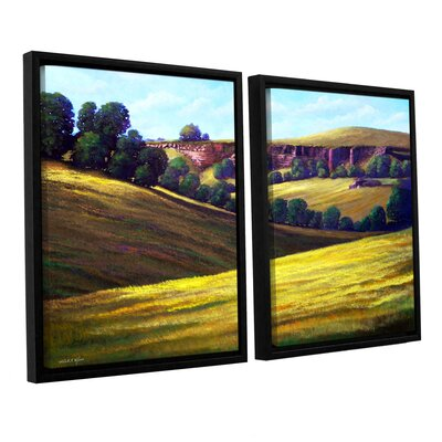 Canyon Oaks 2 Piece Framed Painting Print on Canvas Set