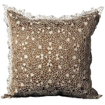 Darlene Cotton Throw Pillow Color: Brown