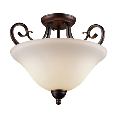 Barrera 1-Light Semi Flush Mount