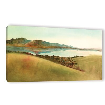 Lago Del Coghinas Sardinia Painting Print Wrapped on Canvas