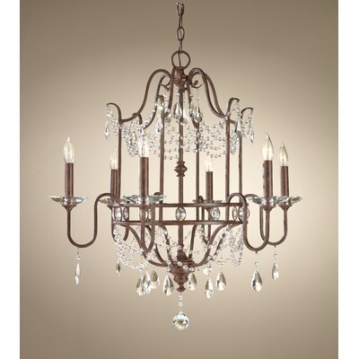 Exeter 6 Light Crystal Chandelier