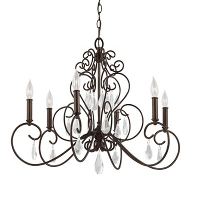 Langley 6 Light Candle-Style Chandelier