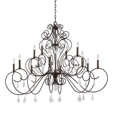 Langley 12 Light Candle-Style Chandelier