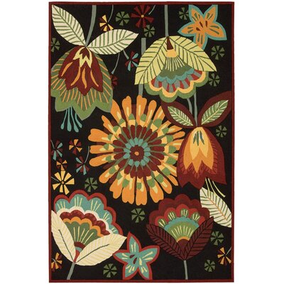 Haleigh Black Area Rug Rug Size: 19 x 29