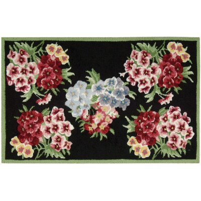 Cherie Black/Red Area Rug