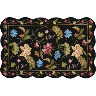 Cherie Black/Green Area Rug