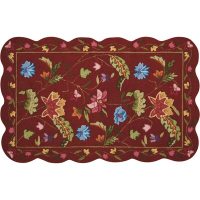 Cherie Red/Green Area Rug