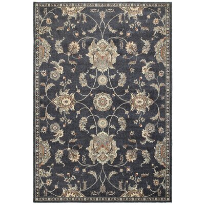 Sardinia Blue/Ivory Area Rug Rug Size: Rectangle 53 x 76