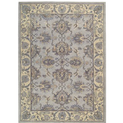 Poulos Hand-Tufted Gray/Ivory Area Rug Rug Size: Runner 23 x 8