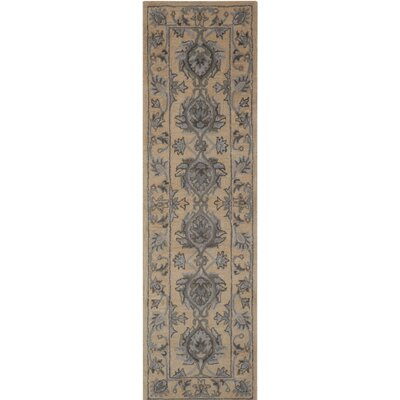 Poulos Hand-Tufted Beige Area Rug Rug Size: Rectangle 56 x 86