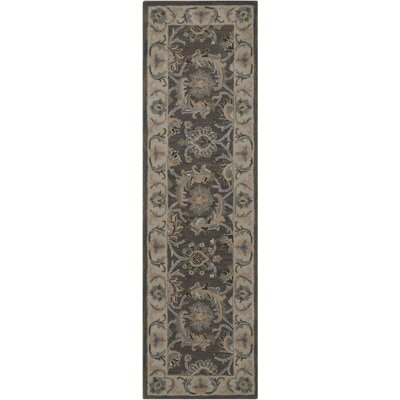 Poulos Hand-Tufted Gray Area Rug Rug Size: Rectangle 56 x 86