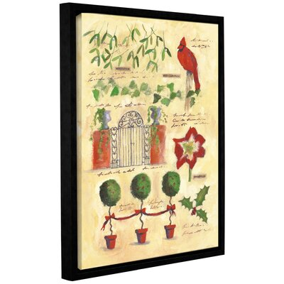 Holiday Collage Framed Painting Print on Wrapped Canvas