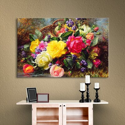 Friedson Roses from a Victorian Garden Painting Print on Canvas