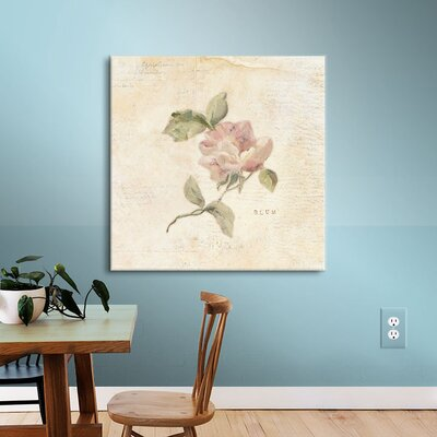 Rose C Painting Print on Wrapped Canvas