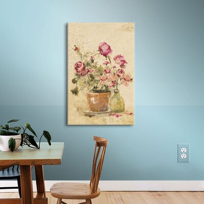 Rose Panel II Painting Print on Wrapped Canvas