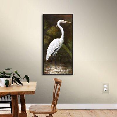 Robertson Snowy Egret I Framed Painting Print