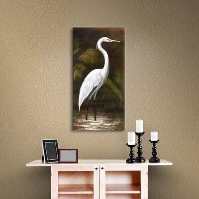 Robertson Snowy Egret I Painting Print on Canvas