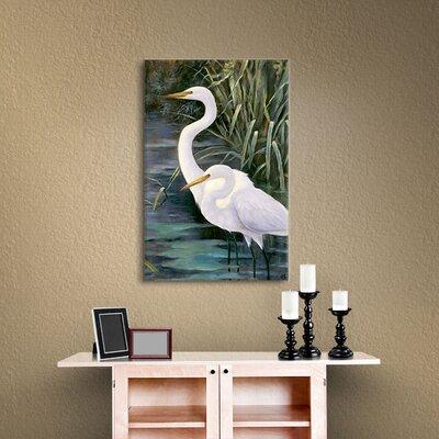 Robertson Snowy Egrets II Photographic Print on Canvas