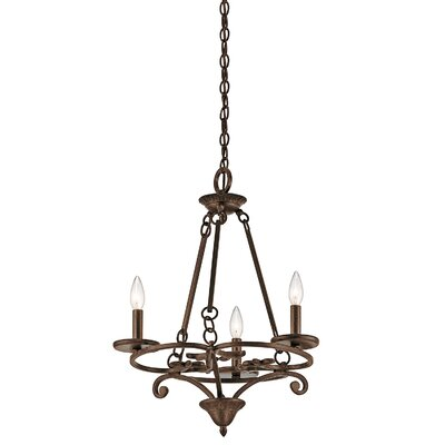 All Saints 3-Light Candle-Style Chandelier