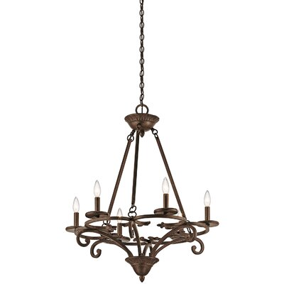 Allan 6-Light Candle-Style Chandelier