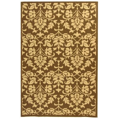 Beasley Brown/Natural Indoor/Outdoor Area Rug Rug Size: 53 x 77