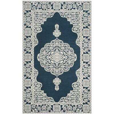 Howe Hand-Woven Blue Area Rug Rug Size: 5 x 8