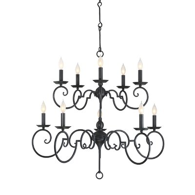 Beckford 10 Light Candle-Style Chandelier