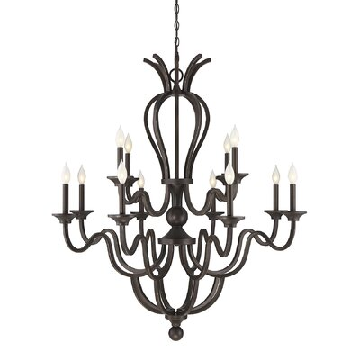 Chatterton 12 Light Candle-Style Chandelier