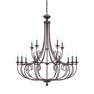 Hedley 15-Light Candle-Style Chandelier