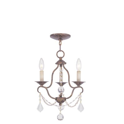Bayfront 3-Light Candle-Style Chandelier Finish: Venetian Golden Bronze