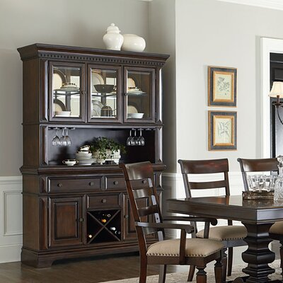 Parthena Lighted China Cabinet
