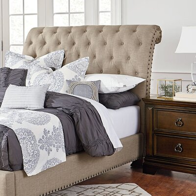 Parthena Upholstered Sleigh Headboard Size: King