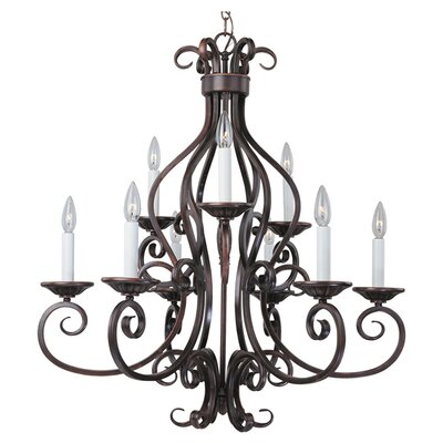 Alsey 9-Light Candle-Style Chandelier