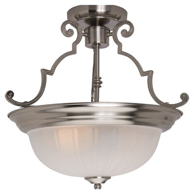 Isaacson 2-Light Semi Flush Mount Color: Satin Nickel