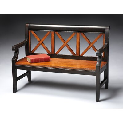 Eastlake Transitional Cherry Veneer Bench