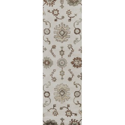 Goodall Sand Allover Oushak Area Rug Rug Size: Rectangle 26 x 42
