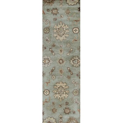 Goodall Silver Sage Oushak Area Rug Rug Size: Runner 23 x 76
