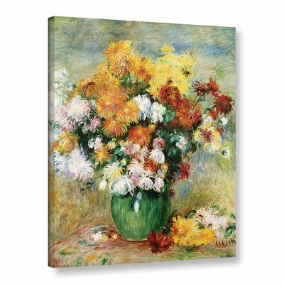 'Bouquet Of Chrysanthemums, 1884' by Pierre Renoir Painting Print on Wrapped Canvas