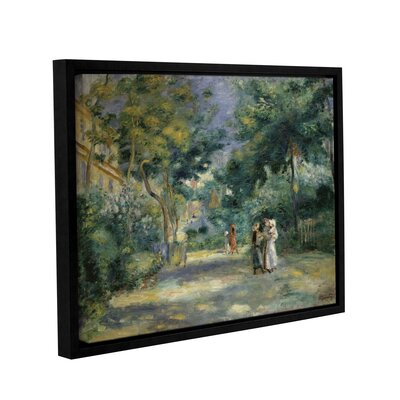 'The Gardens In Montmartre, 19th Century' by Pierre Renoir Framed Painting Print