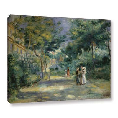 'The Gardens In Montmartre, 19th Century' by Pierre Renoir Painting Print on Wrapped Canvas