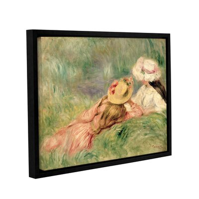 'Young Girls On The River Bank' by Pierre Renoir Framed Painting Print