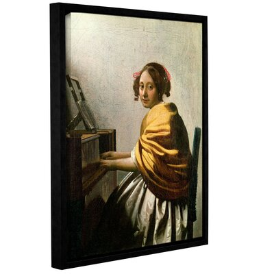 Young Woman At A Virginal by Jan Vermeer Framed Painting Print